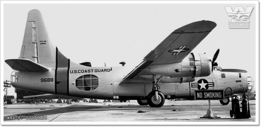 U.S. Coast Guard Consolidated P4Y-2G Privateer/Bu. 59688 at Coast Guard Air Station San Diego on October 18, 1958.