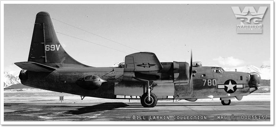 Consolidated PB4Y-2 Privateer/Bu. 59780 at Anchorage, Alaska in 1945.