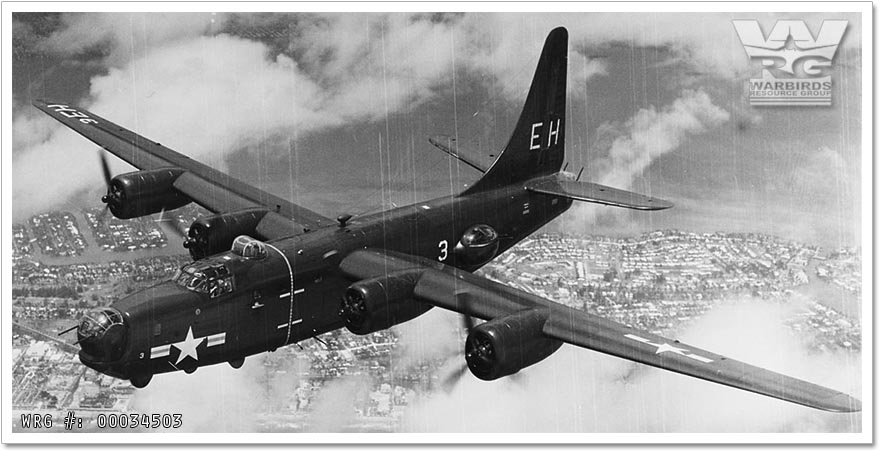 U.S. Navy Consolidated PB4Y-2 Privateer/Bu. 60006 from Patrol Squadron 23 (VP-23)  over Miami, FL, in July 1949.